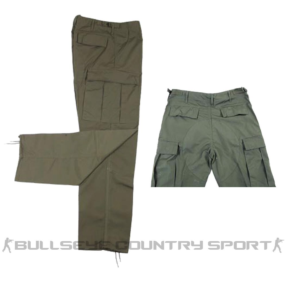 MFH US STYLE COMBAT TROUSERS GREEN OD