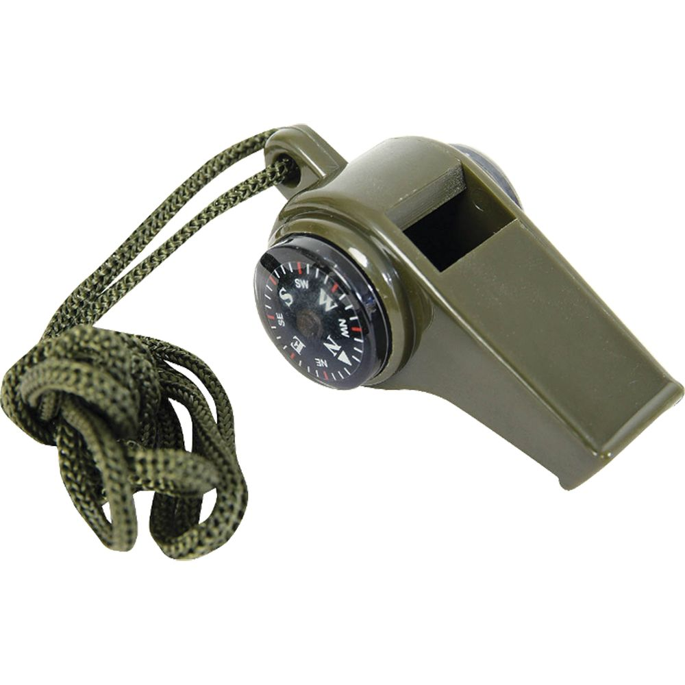 Mil-Com 3-in-1 Whistle on Lanyard