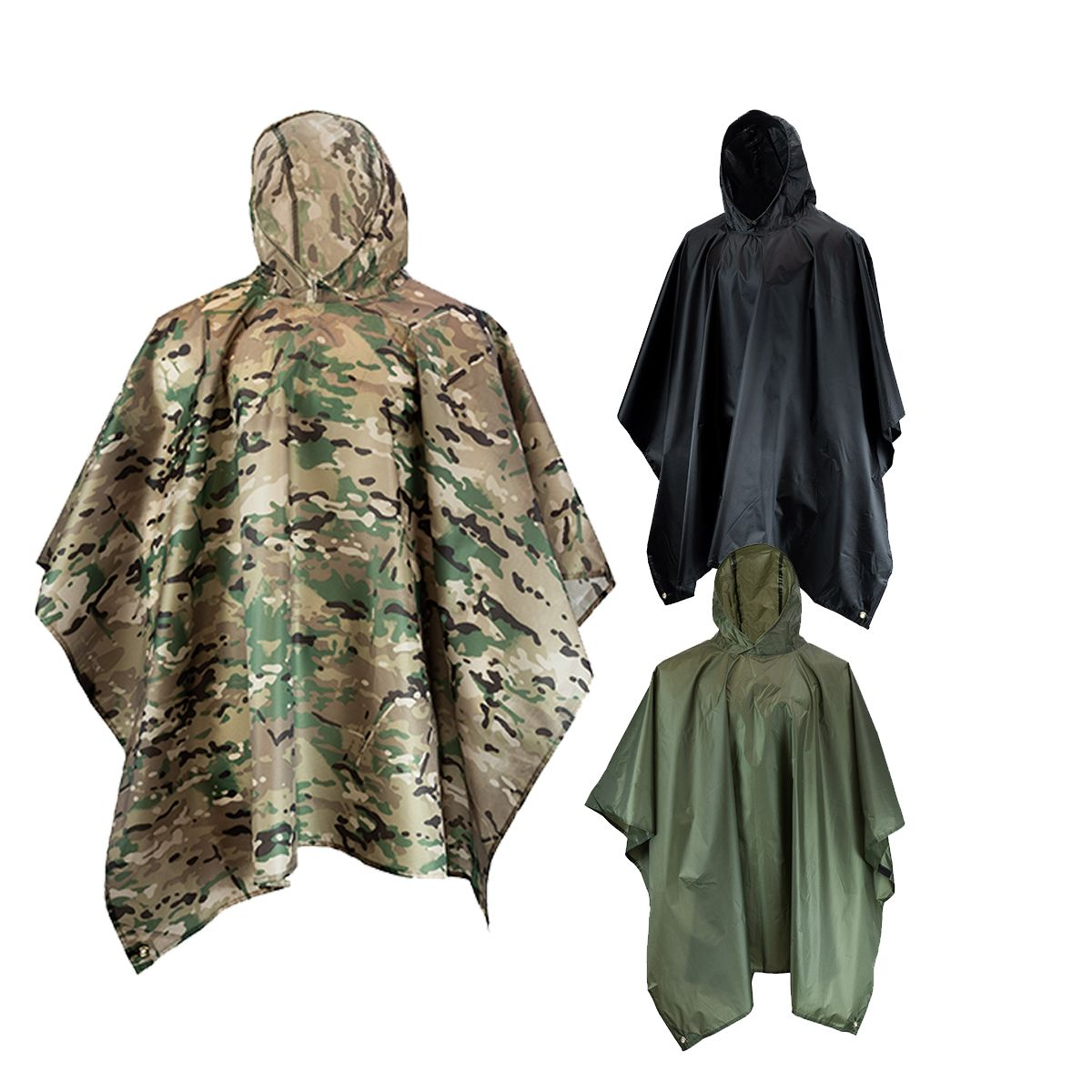 Mil-Com US Style Poncho Rip-Stop Waterproof