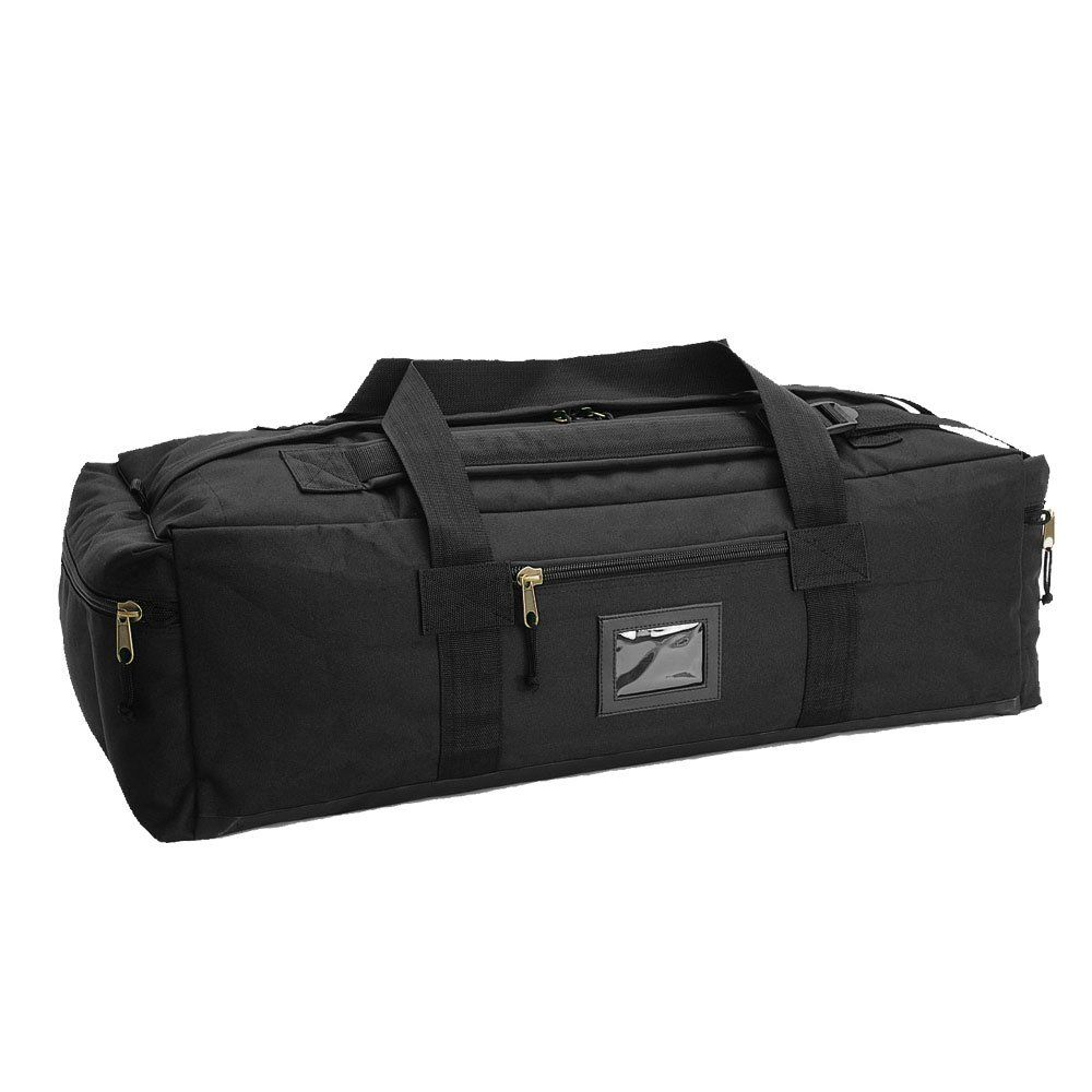 Mil-Tec Carry Hold-All Kit Duffle Bag Black Camping Airsoft #5002