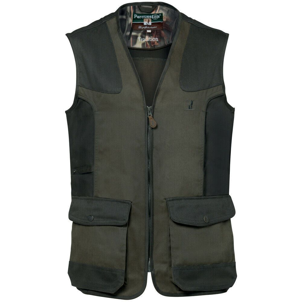 Percussion Tradition Hunters Shooting Vest Skeet Contry Wear KAUK Green 1215
