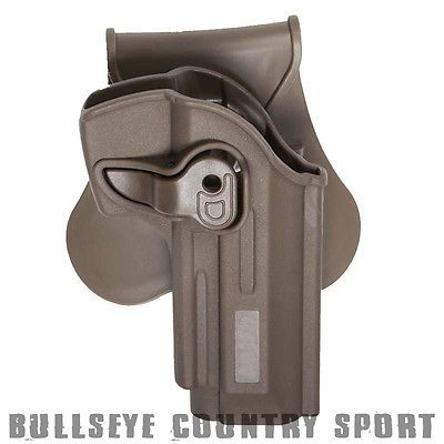 Strike Systems Airsoft Polymer Roto Holster FDE Dark Earth With Belt Clip