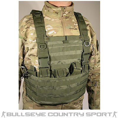 SWISS ARMS MOLLE SYSTEM TACTICAL VEST MOLLE VEST AIRSOFT OD CHEST RIG