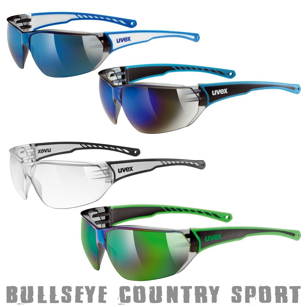 94188c20067b UVEX Sport Style 204 Protective Safety Glasses Cycling Slim Fit Clear Smoke