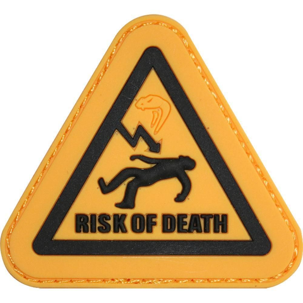 Viper Airsoft PVC Rubber Moral Patch Risk of Death Softair 6mm bb's