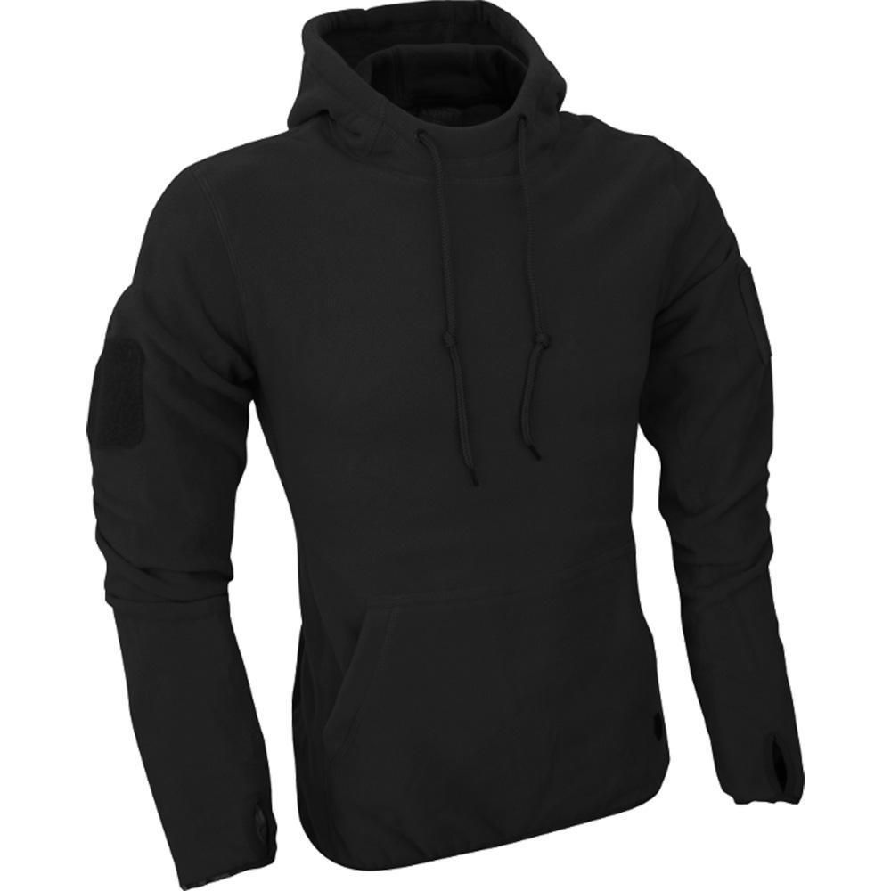 Viper Fleece Hoodie Black Lightweight Breathable