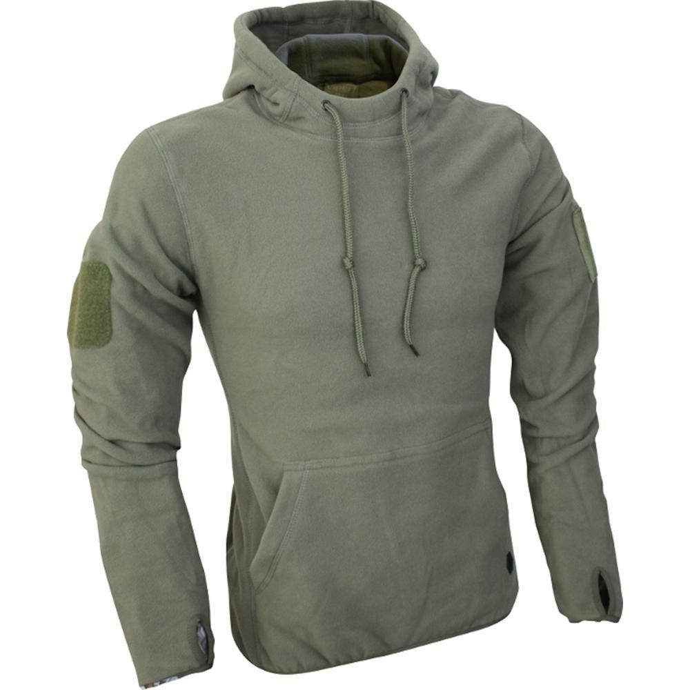 Viper Fleece Hoodie Green Lightweight Breathable